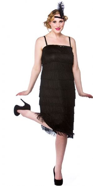 Jazzy 20's Flapper Plus Size Costume Black (EF2150)
